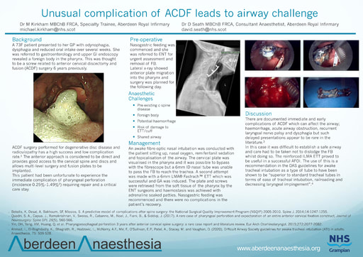 Unusual complication of ACDF leads to airway challenge